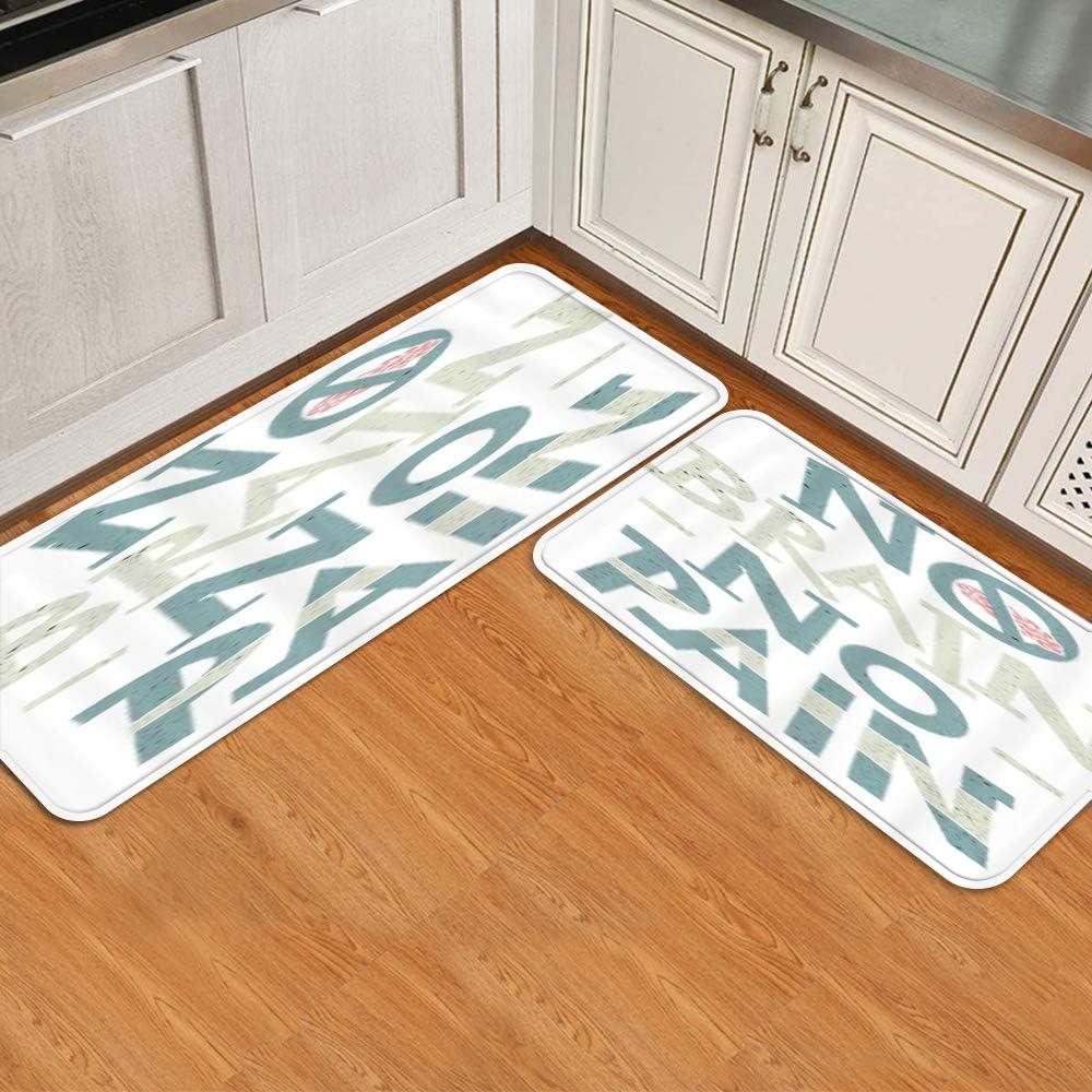 Kitchen Superlatite Mat Set of Large special price 2 Anti C No Brain Fatigue Pain letters