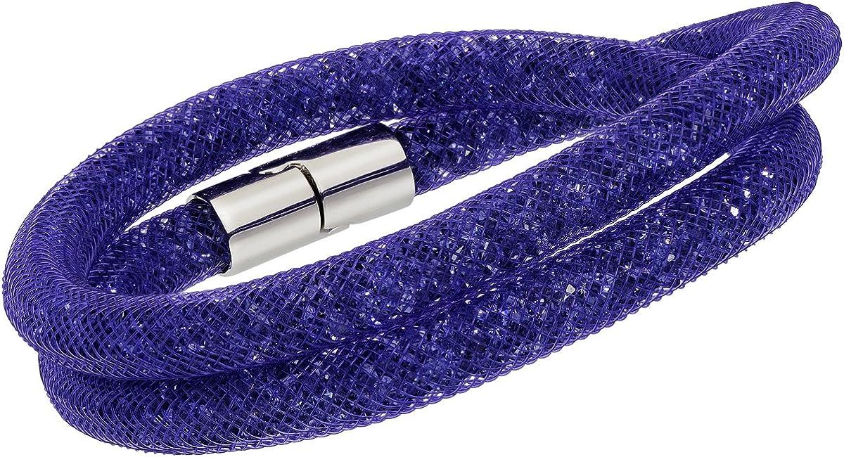 Swarovski Crystal STARDUST Purple Double Bracelet Medium #5089834
