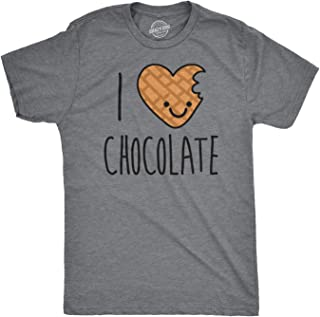 Mens Scented Ink I Heart Chocolate Scratch and Sniff Candy Smelling T Shirt