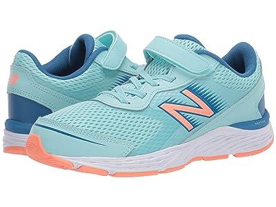 New Balance Kids 680v6 Bungee (Little Kid/Big Kid) (Bali Blue/Mako Blue) Girls Shoes