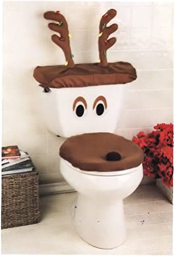 high quality Decorative Holiday Snowman new arrival high quality Toilet Cover Set (One Size Fits All, Brown) outlet sale