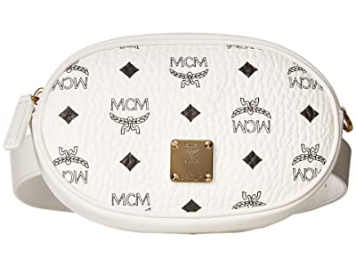 MCM Essential Visetos Original Belt Bag Small (White) Handbags
