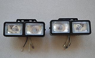 2 x Universal Scheinwerfer und Nebelscheinwerfer, 12 V, H3 55 W Halogenlampen für Auto, Van, Bus, SUV, 4 x 4.