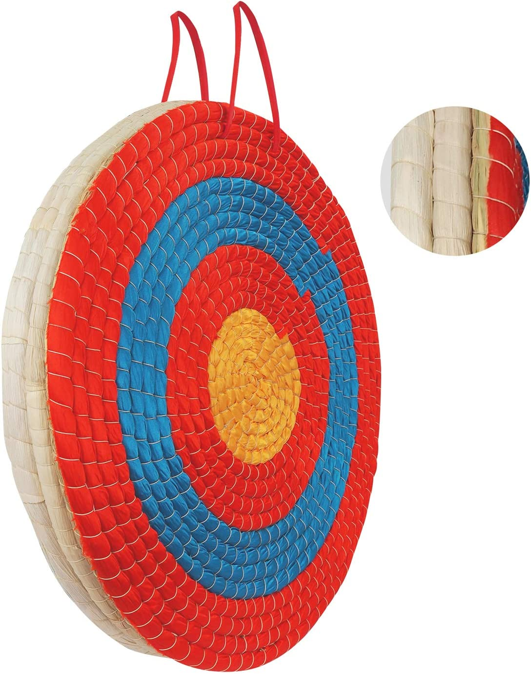 Seektop 20 Inches Archery Targets for Backyard, 3 Layers Traditional Hand-Made Straw Archery Target for Youth Outdoor Hunting Shooting Practice, Arrow Target for Recurve Bow Longbow or Compound Bow : Sports & Outdoors