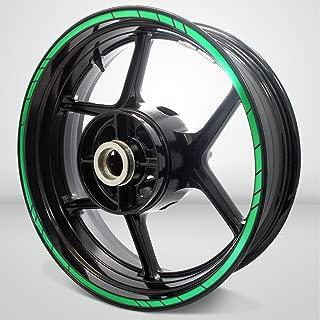 Speed Outer Rim Liner Stripe for Suzuki SV650 Reflective Green