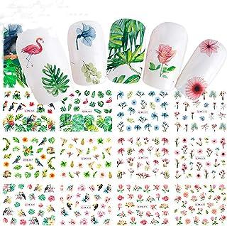 Kit de Accesorios de Decoraci¨®n de U?as Nail Art clifcragrocl - flor hoja flamenco Nail Art DIY decoraci¨®n etiqueta transferencia de agua manicura calcoman¨ªa