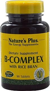 Natures Plus B-komplex med riskli (Reiskleie) 90 tabletter
