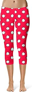 Rainbow Rules Minnie Hand-Drawn Polka Dots Red Disney Inspired Sport Leggings - Capri Length, Mid/High Waist