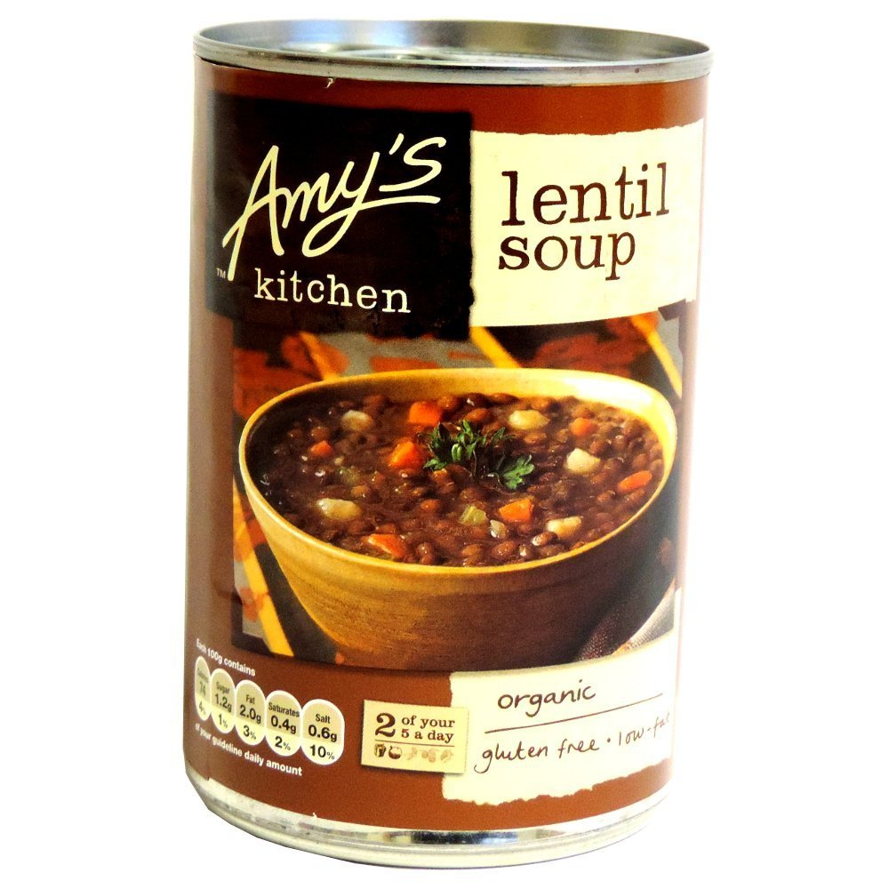 Amy's Max 55% Free shipping / New OFF Kitchen - Lentil Soup 400g of 6 Case