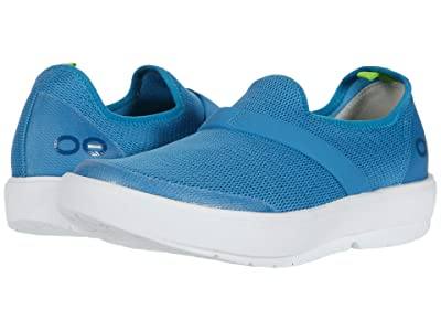 OOFOS Oomg (White/Teal) Women