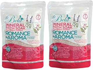 Bela Mineral Bath Soaks - Romance + Aroma - Natural & Organic Magnesium Salt Solution with Pure Essential Oils for Relief ...