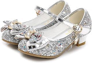 NNJXD Meisjes prinses sprankelende schoenen Cosplay Party Dance Lage hakken