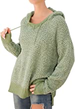 LEKODE Sweater Women's Hoodie Solid Long Sleeve Knit