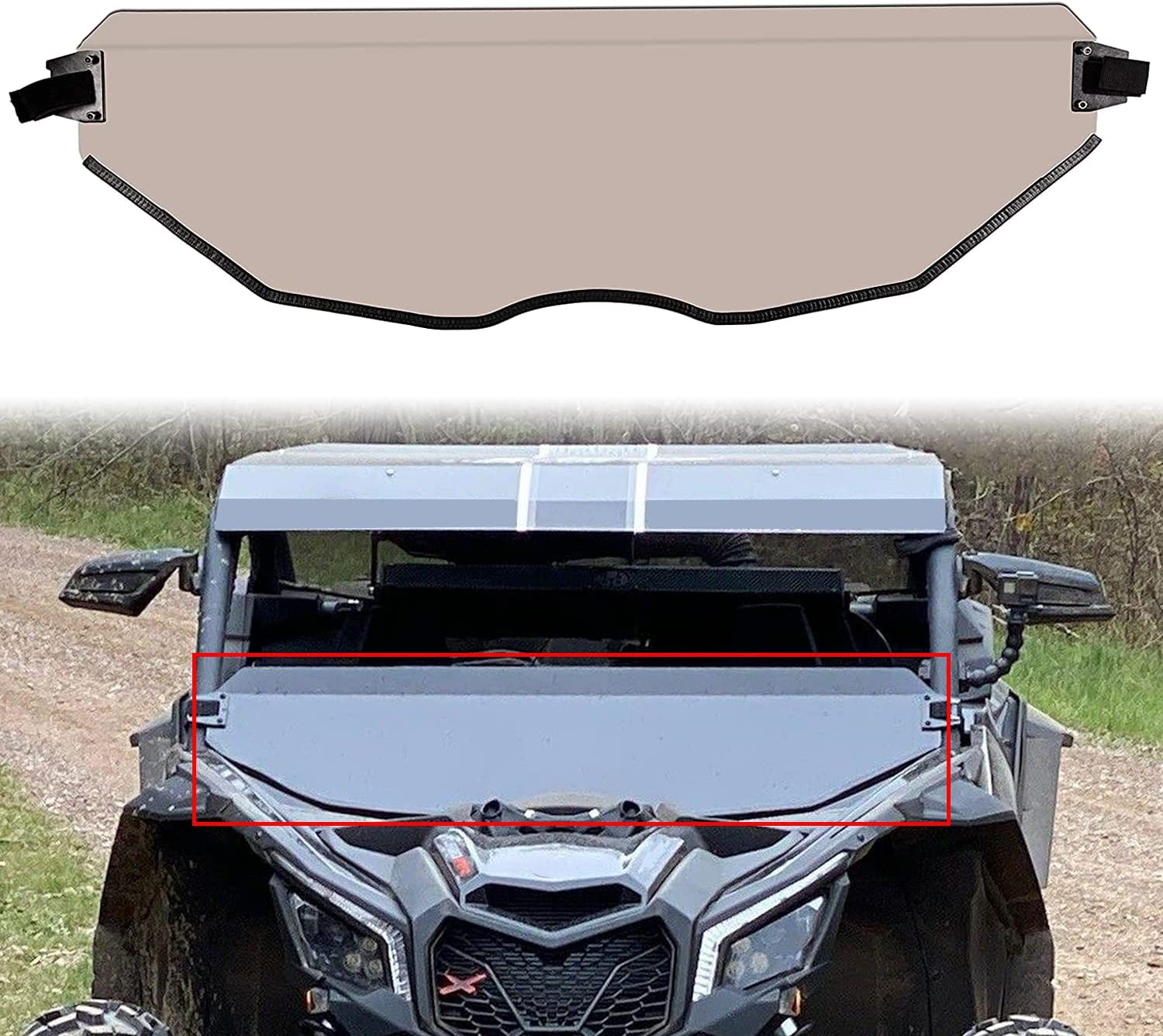 JMTAAT Dark Tint Tinted OFFicial store Half Max 82% OFF Windshield Maverick Can-Am X3 for X
