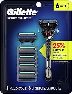 Gillette Proglide Mens Razor Handle with Precision Trimmer + 6 Blade Refills