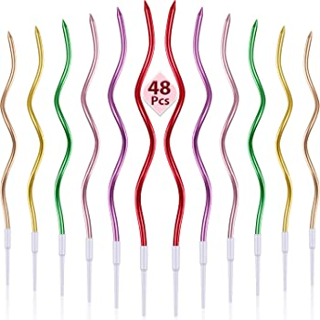 Wilton 2811-6316 12 Count Curly Birthday Candle