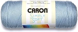Caron Simply Soft Solids Yarn (4) Medium Gauge 100% Acrylic - 6 oz - Light Country Blue - Machine Wash & Dry