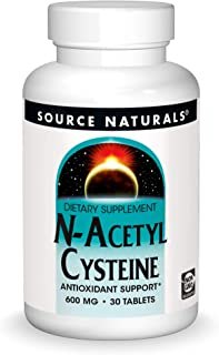 Source Naturals N-Acetyl Cysteine Antioxidant Support 600 mg Dietary Supplement That Supports Respiratory Health - 30 Tablets