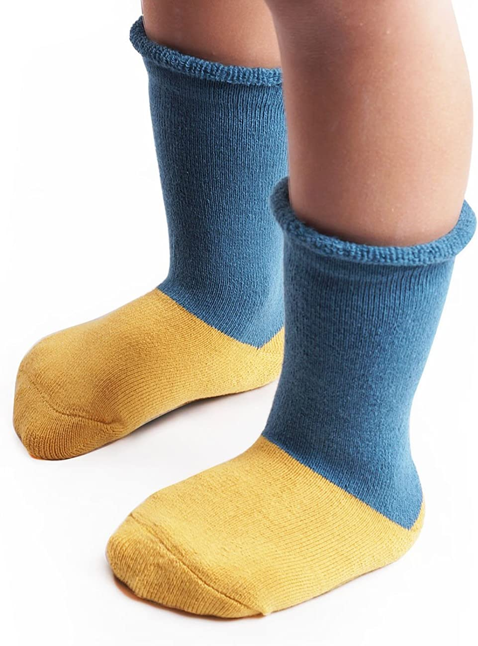 BabaMate Baby Infant Toddler Boys Girls Thick Warm Winter Socks Fuzzy Cotton Thermal Boot Socks for Cold Weather (3-Pack)
