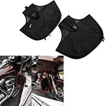 YHMTIVTU Motorcycle Engine Guard Cover Soft Lowers Chaps for Touring Street Glide Road King Road Glide Electra Glide and Trike Models 1980-2020
