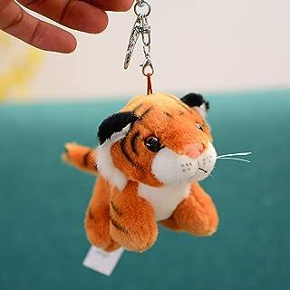 Plush Tiger Keychain Stuffed Animal Toys Key Chains Dolls Ornaments Pendant Yellow