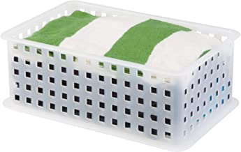 InterDesign Modulon X2 Storage Basket, Clear