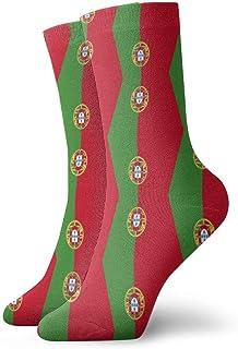 N / A, Portugal Combinación de calcetines con bandera para hombres, mujeres y niños Trekking Performance Outdoor 30 cm (11.8 pulgadas)