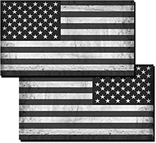 itsaskin Distressed American Flags Decals Stickers (2-pack) American Tactical Military USA Jeep Truck Off-Road 5.5