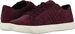 Dark Wine Quilted Suede