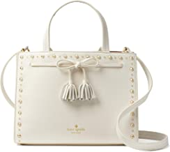 Kate Spade New York Hayes Street Studded Sam Leather Satchel Bag, Cement