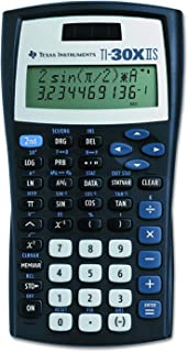 Texas Instruments TI-30X IIS 2-Line Scientific Calculator, Black with Blue Accents