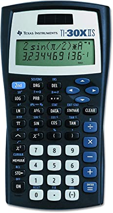 $41 » Texas Instruments TI-30X IIS 2-Line Scientific Calculator, Black with Blue Accents 3 Pack