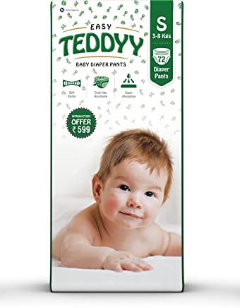 Teddyy Baby Easy Small Diaper Pants (Pack of 72)