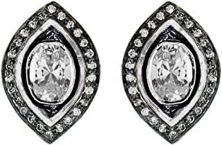 izaara 92.5 Silver Sterling Hallmark Silver Fashion Earrings with Colour Stones and Pearls for Women and Girls