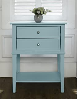 Ameriwood Home Franklin Accent Table 2 Drawers, Blue