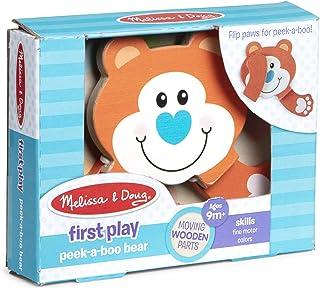Melissa & Doug 40562 First Play-Peek-a-Boo Bear | Wooden Toys | 2+ | Gift for Boy or Girl