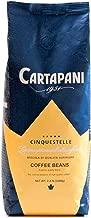 Caffe' Cartapani Cinquestelle Whole Bean Coffee, Premium Quality Italian Espresso Blend , Medium Roast, 2.2-Pound Bag, Roasted in Italy