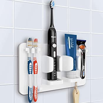 1pc Bathroom Wall Mounted Stainless Steel Toothbrush Hook Toothpaste Holder TDCA
