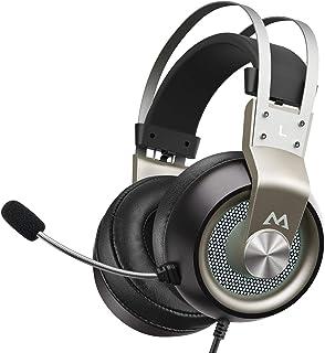Mpow - Auriculares para Xbox One para PS4, EG3 Pro, Sonido Envolvente estéreo con micrófono de cancelación de Ruido y Control en línea, Auriculares para Juegos con luz LED, Compatible con PC/Xbox/PS4