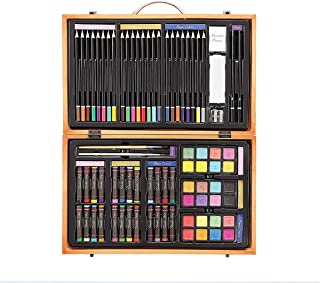 Darice 80-Piece Deluxe Art Set – Art Supplies for Drawing, Painting and More in a..