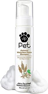 John Paul Pet Oatmeal Waterless Foam Shampoo for Dogs and Cats, Sensitive Skin Formula, 8.5-Ounce