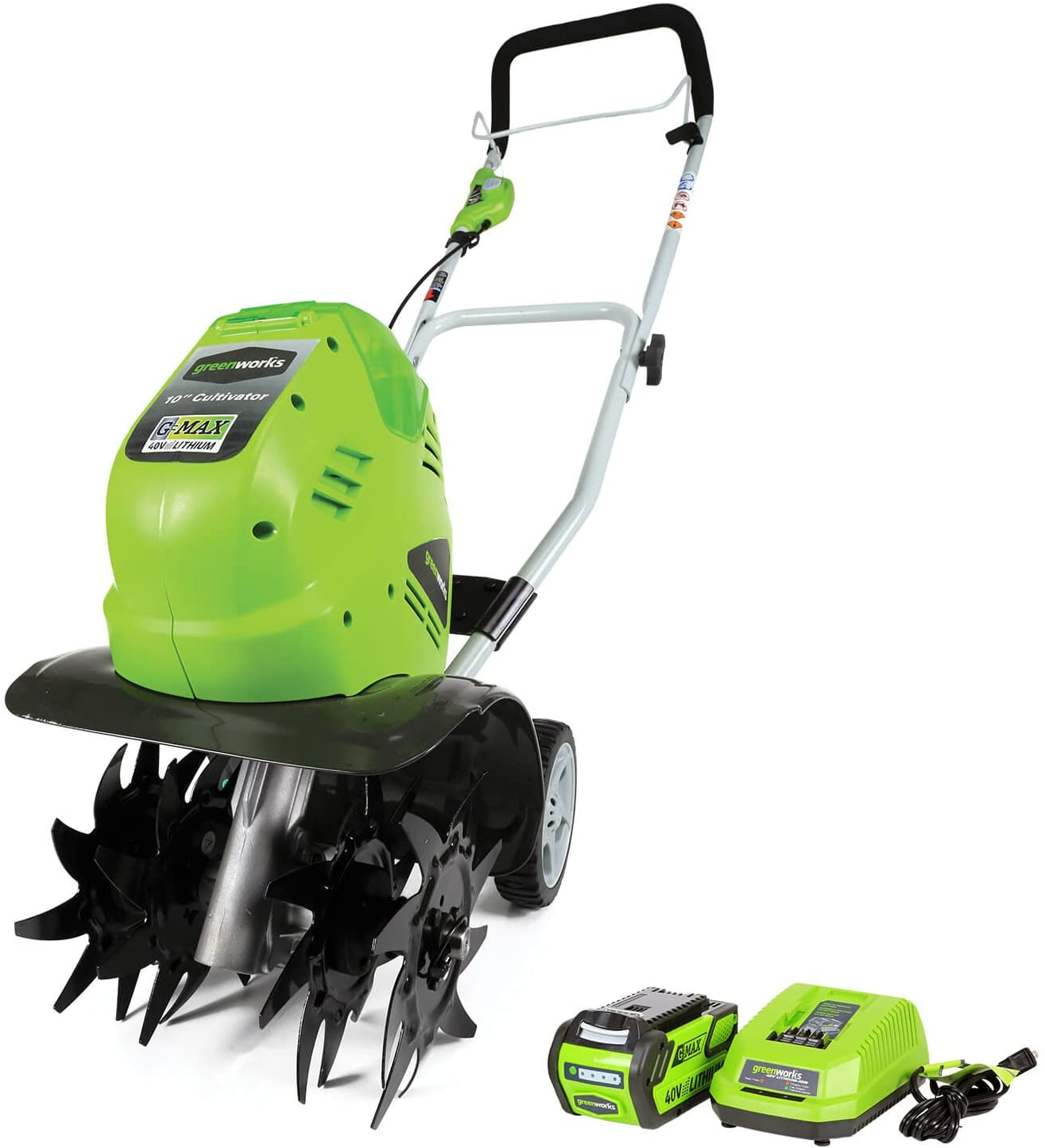 Greenworks 40V 10 inch Cordless Battery Cultivator Max 60% OFF AH 4.0 National uniform free shipping Inclu