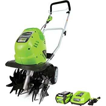 Greenworks 10-Inch 40V Cordless Cultivator, 4.0 AH Battery Included 27062