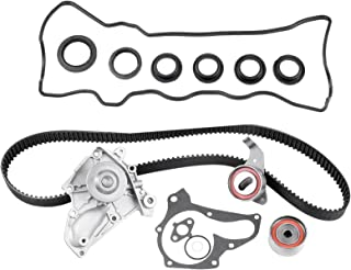 OCPTY Timing Belt Water Pump Kit, Automotive Timing Parts Belt Sets With Seals fit for 1987-2001 Toyota Camry Celica Solara RAV4 MR2 Valve Cover Gasket Water Pump Set 3SFE 5SFE 2.0L 2.2L