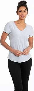 Women's Mitered Short Sleeve V-Neck T-Shirt