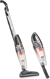 VonHaus Aspiradora escoba y de mano de 600W sin bolsa ? 2 en 1 vertical y manual con dise?o ligero, filtro HEPA, boquilla y cepillo