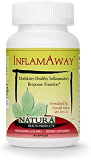 Natura Health Products - InflamAway Healthy Inflammatory Response Support Supplement - Natural Potent Herbal Relief with 30% AKBA Boswellia Serrata and Bioperine Black Pepper - 90 Capsules