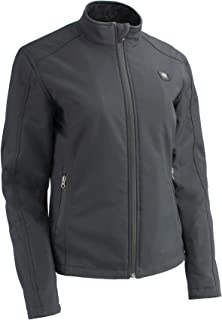 Milwaukee Performance-Women Zipper Front Heated Soft Shell Jacket w/Front & Back Heating Elements and portable battery pack included-BLACK-XL