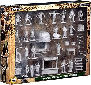WizKids Deep Cuts: Townspeople & Accessories Unpainted Miniatures