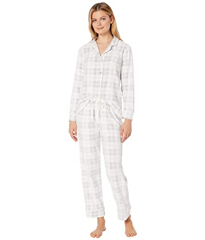 Carole Hochman Cozy Fleece Pajama Set (Grey Plaid) Women